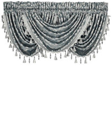 Sicily Teal Waterfall Valance - 846339066085