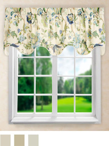 Brissac Scalloped Valance -