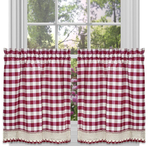 Buffalo Check Curtains & Kitchen Tier Sets -