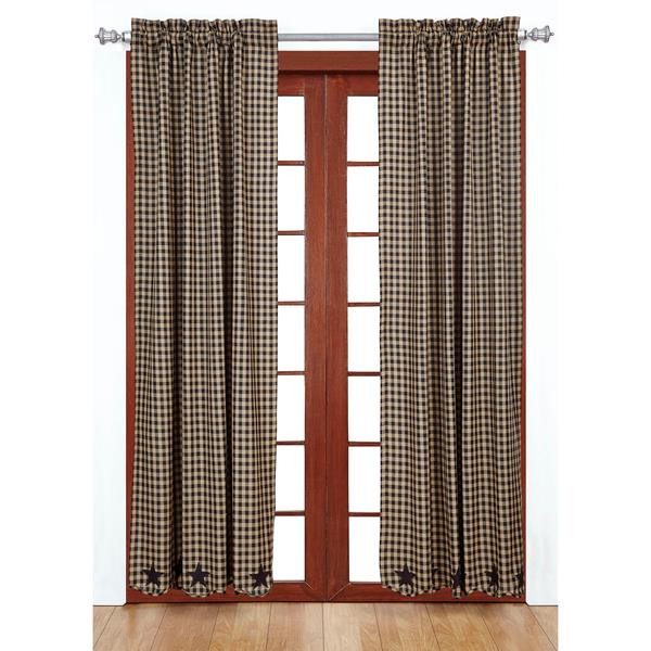Navy Star Curtain Collection -