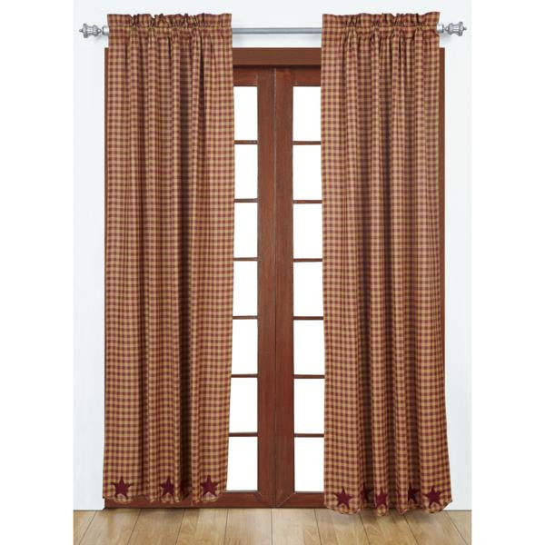 Burgundy Star Curtain Collection -