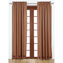 Burgundy Star Curtain Collection -