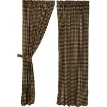 Black Check Curtain Collection -