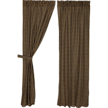 Black Check Curtains - 840528110924
