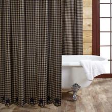 Black Star Shower Curtain - 840528112027