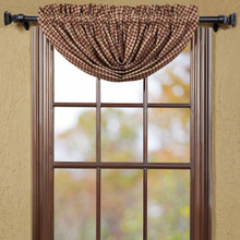 Burgundy Check Balloon Valance - 841985011854