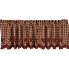 Burgundy Star Layered Valance - 840528111181