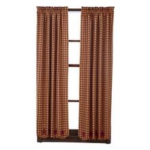 Burgundy Star Short Curtains - 840528111112