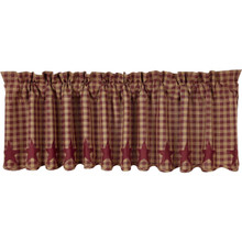 Burgundy Star Valance - 840528111174
