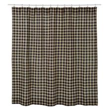 Burlap Black Check Shower Curtain - 841985036864