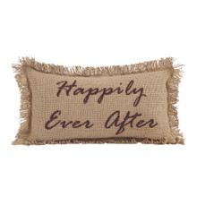Burlap Natural Happily Ever After Pillow - 841985004139