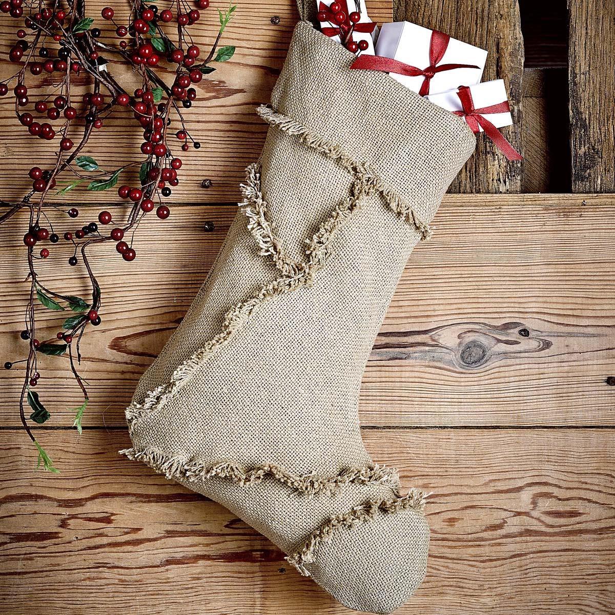 Burlap Natural Reverse Seam Stocking - 840528103315