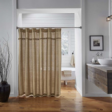 Burlap Natural Shower Curtain - 841985014169