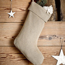 Burlap Natural Stocking - 841985004160