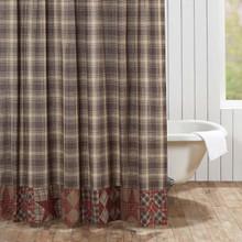 Dawson Star Patchwork Shower Curtain - 840528141324