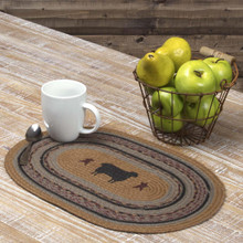 Heritage Farms Sheep Jute Oval Placemat Set - 840528160066