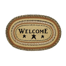 Kettle Grove Jute Oval Stencil Welcome Rug - 841985001091