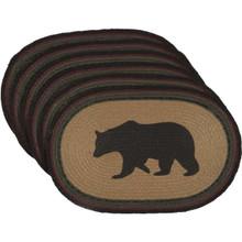 Wyatt Bear Jute Oval Placemat Set - 840528160837