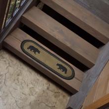 Wyatt Bear Jute Oval Stair Tread - 840528160875