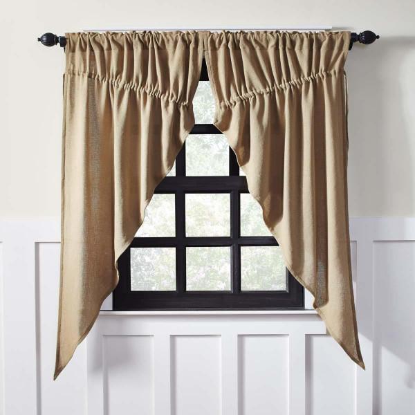 Burlap Prairie Curtain Set - 841985011878