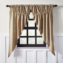 Burlap Prairie Curtain Set - 841985011878