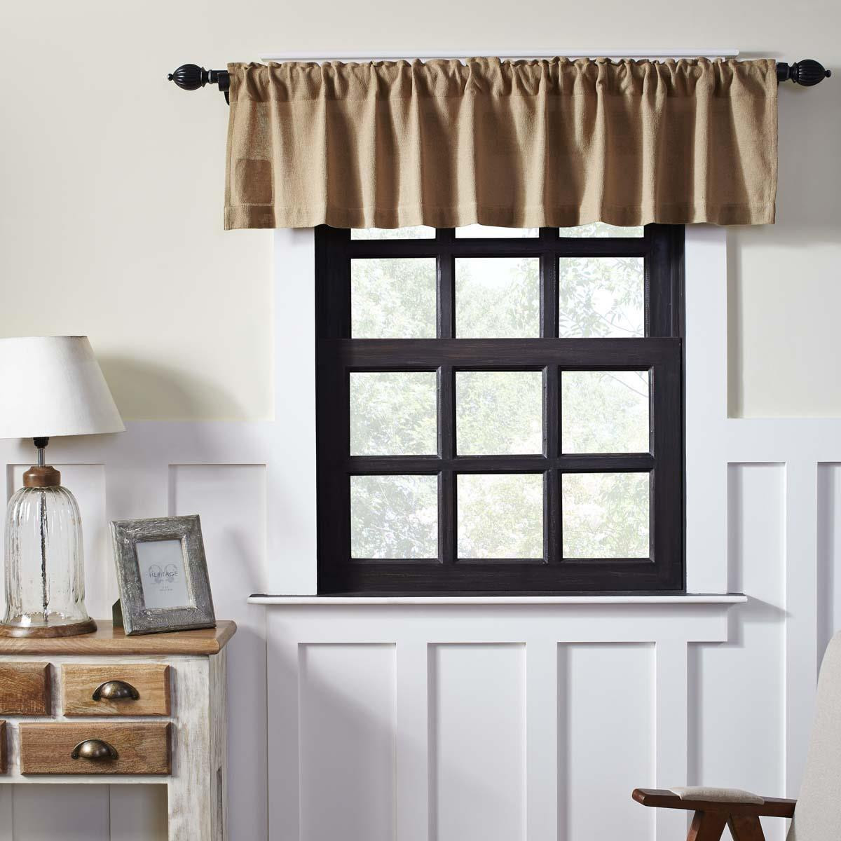Vhc Brands Burlap Valance By April Olive Paul S Home Fashions