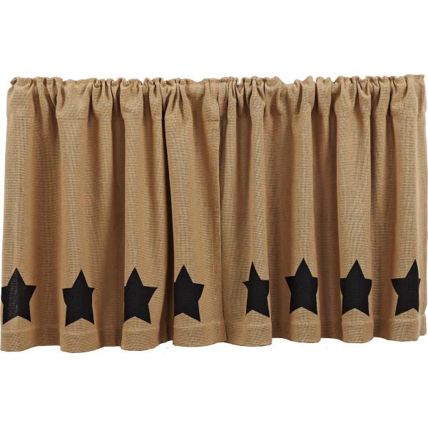 Burlap w/ Stencil Stars Tier Set - 841985027183