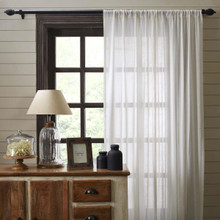 Tobacco Cloth Fringed Curtains - 841985019683