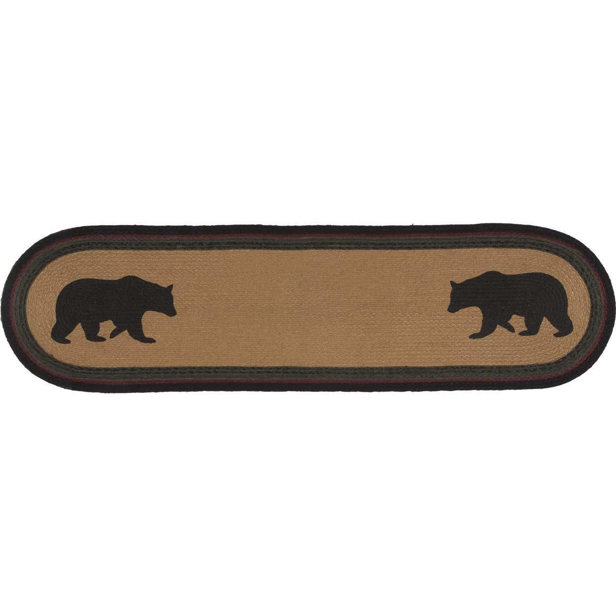 Wyatt Bear Jute Oval Runner - 840528160851