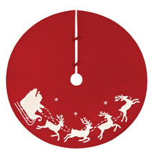 Santa Sleigh Tree Skirt - 008246060277