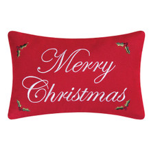 Merry Christmas Red Pillow - 008246037972