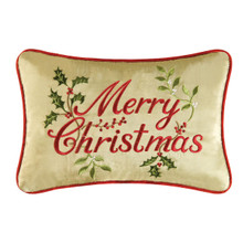 Merry Christmas Tan Pillow - 008246053132