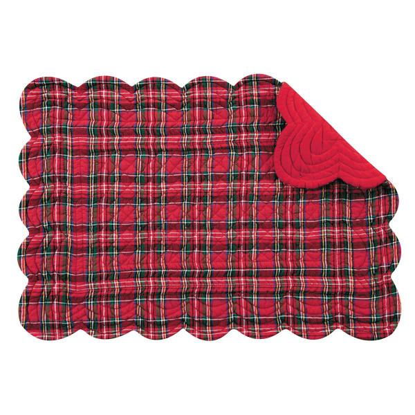 Red Plaid Rectangular Placemat - 008246426585