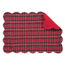 Red Plaid Rectangular Placemat - 008246426585