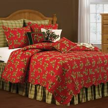Holly Red Quilt  Set - 008246427209