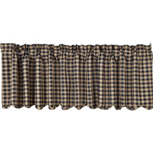 Black Check  Valance - 840528110993