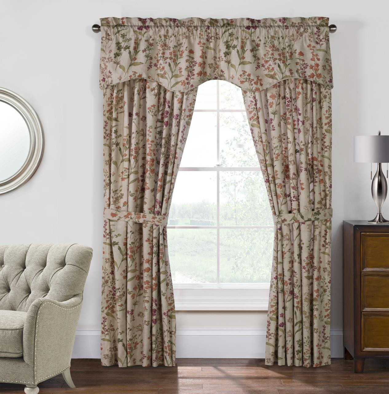 Rockport Floral Curtains - 695565134408