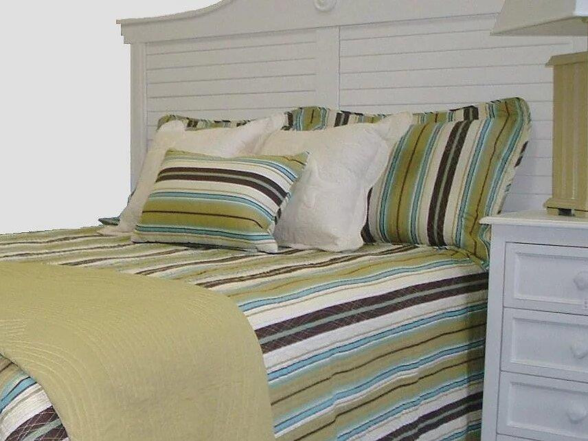 Brown Blue Stripe Bedding Collection -