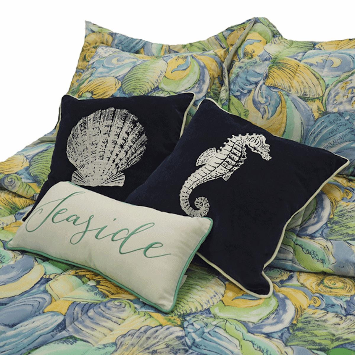 Blue Green Shell Bedding Collection -