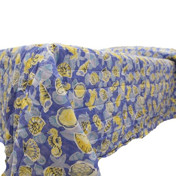 Blue Yellow Sealife Bedding Collection -