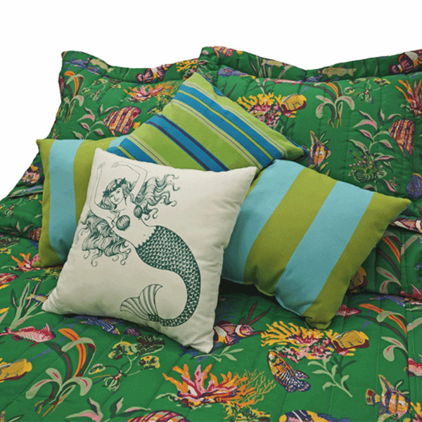 Green Fish Bedding Collection -