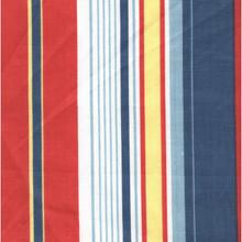 Dark Blue Red Stripe Curtains -