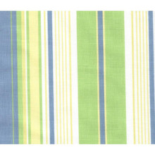 Green Blue Stripe Curtains -