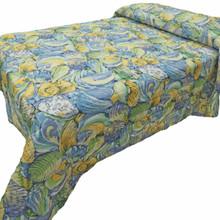 Blue Green Shell Bedspread - 712383904997