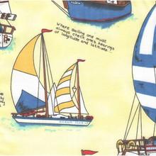 Yellow Sailboat Sham -