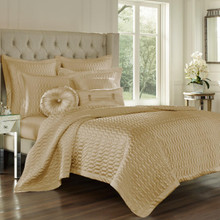 Satinique Gold Coverlet - 846339074912