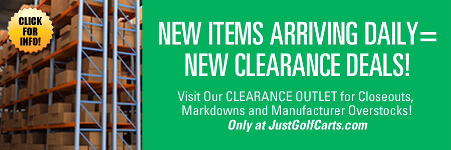 See Our Clearance Outlet for Great Golf Cart Parts and Accessory Savings