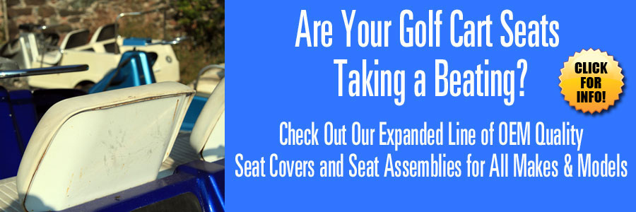 Huge Selection of OEM Replacement Golf Cart Seat Covers and Assemblies