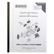 Golf Cart Maintenance Manual, EZGO 4 Cycle Engine 295cc 350cc