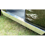 EZGO TXT Diamond Plate Rocker Panel Set